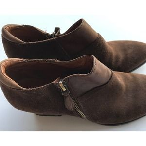 Franco Sarto Ankle Boots Brown Size 6.5